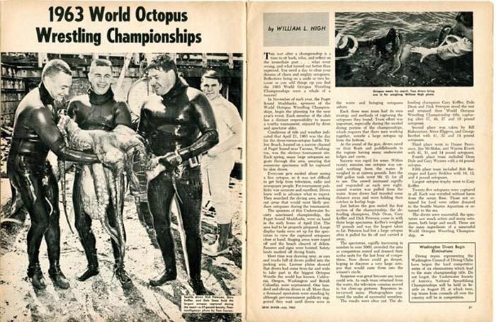 Статья о соревнованиях по реслингу с осьминогами.