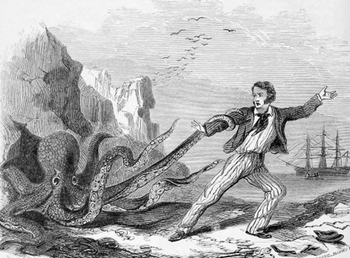 Борьба с морским монстром.