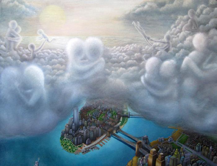 Картины японского художника Yasuaki Okamoto. *Любовь выше, чем закон*.