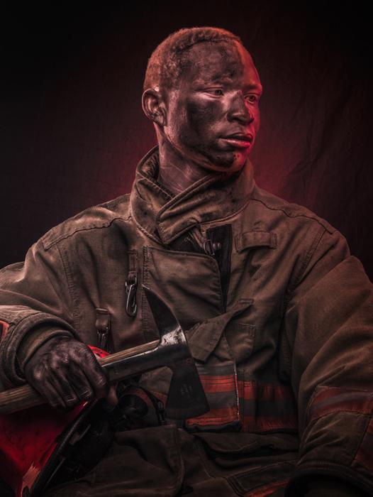 Джайрус, пожарный.  Фото: Osborne Macharia.
