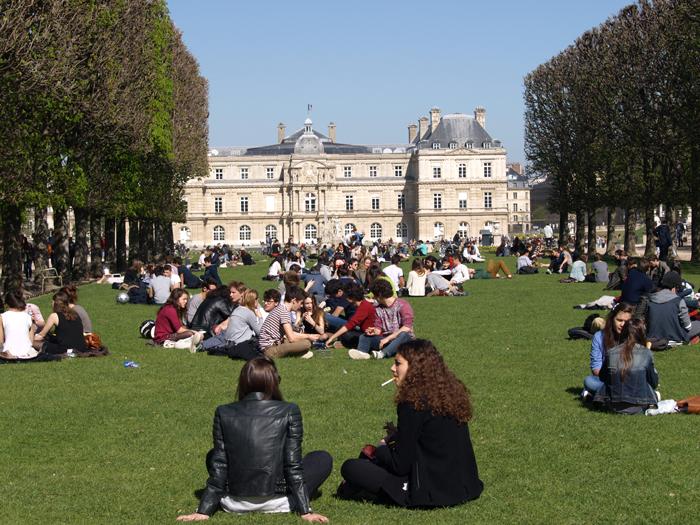 Парк в Париже.  Фото: Amber Lacerta.