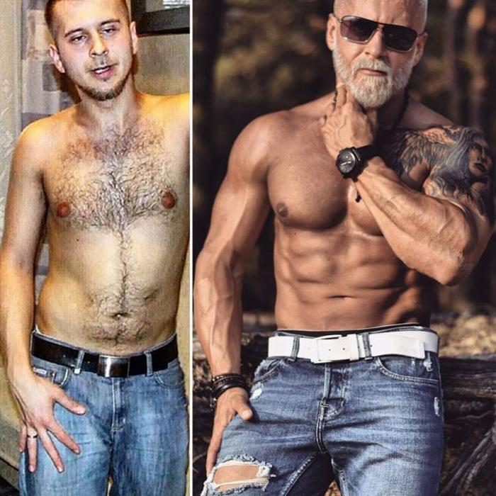 Павел Ладзяк в 25 и в 35 лет.