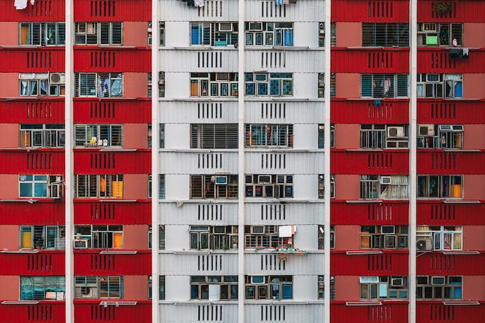 Своеобразный рисунок жилых кварталов Гонконга.