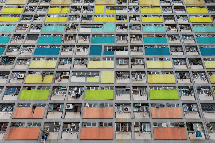 Архитектурный паттерн на улицах Гонконга.