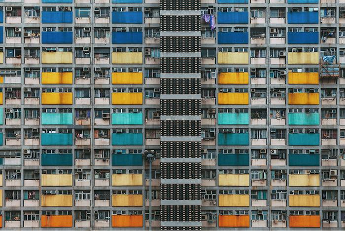 Уникальный паттерн жилых кварталов Гонконга.