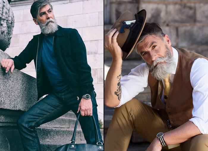 Филипп Дюма, 60-летний пенсионер, ставший моделью.