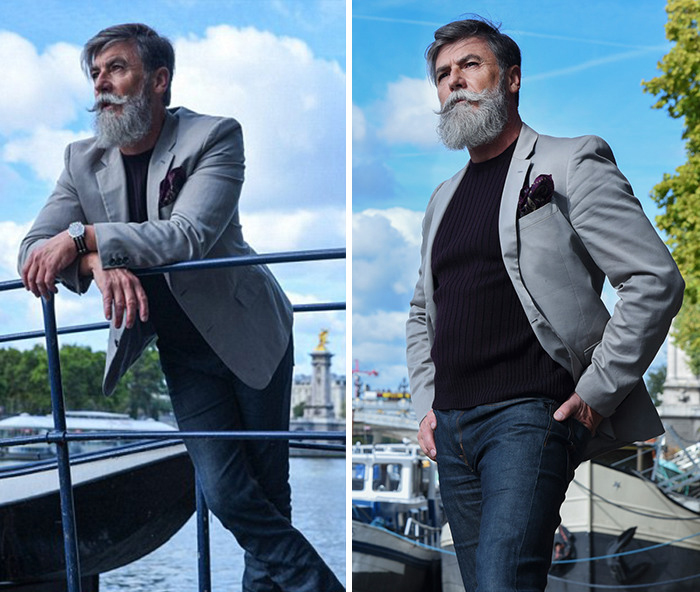 Philippe Dumas стал моделью в 60 лет.
