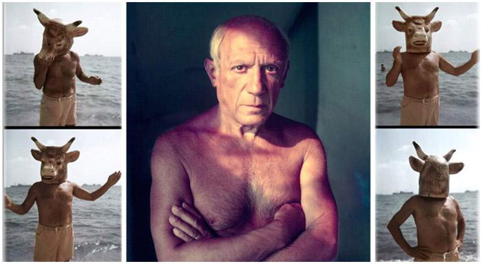 Редкие фотографии Пабло Пикассо в объективе Гийона Мили.