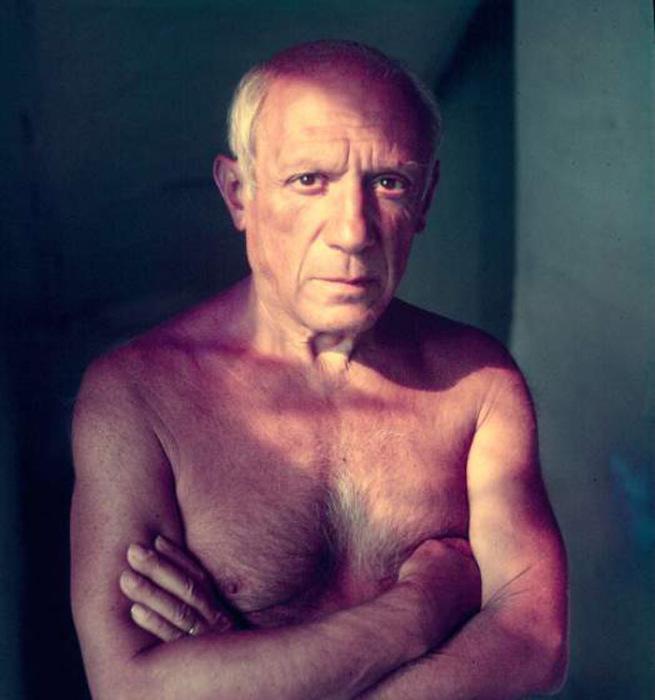 Портрет Пабло Пикассо. Автор фото: Gjon Mili.