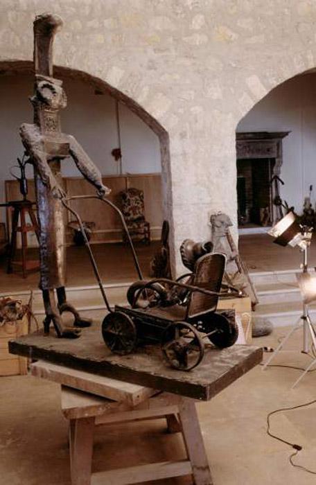Скульптуры Пабло Пикассо. Автор фото: Gjon Mili.