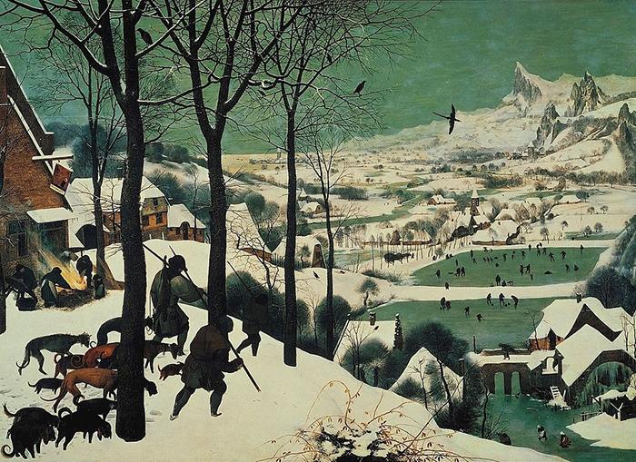 Охотники на снегу. 1565 г. Музей истории искусства, Вена.
