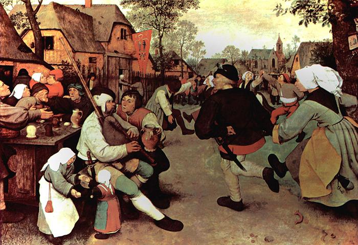 Танец крестьян, 1568 г. Музей истории искусства, Вена.