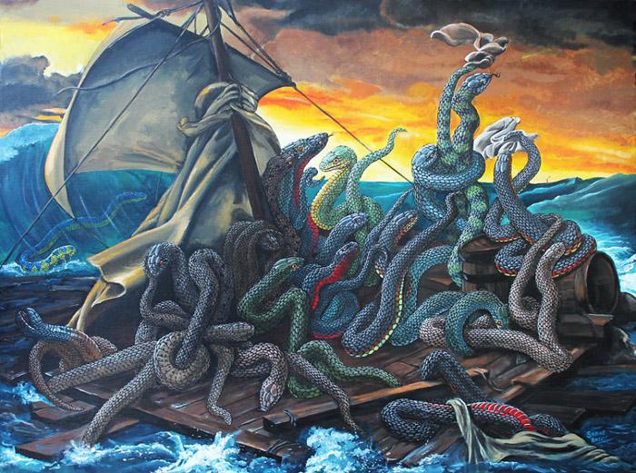 *Плот змей* по мотивам картины Теодора Жерико.