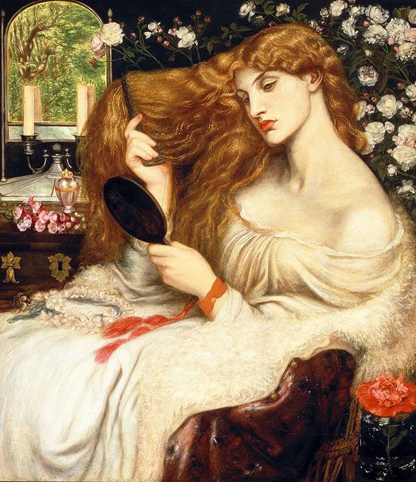 «Леди Лилит», Д. Г. Россетти. 1868 год.