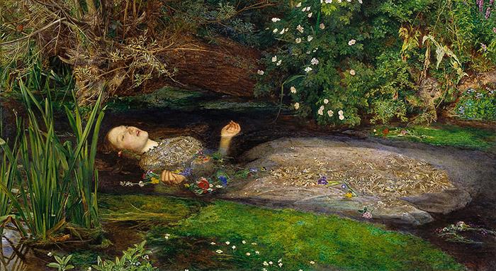 «Офелия», Д. Э. Милле, одна из самых известных картин прерафаэлитов.