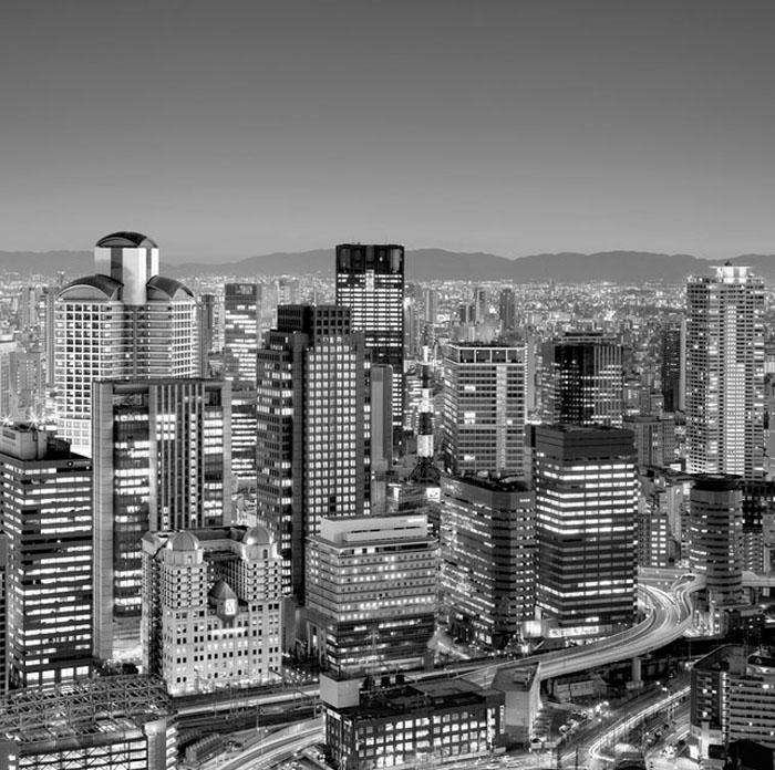 Город Осака.  Автор фото: Rohan Reilly.