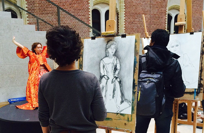 Big Draw в музее Амстердама.