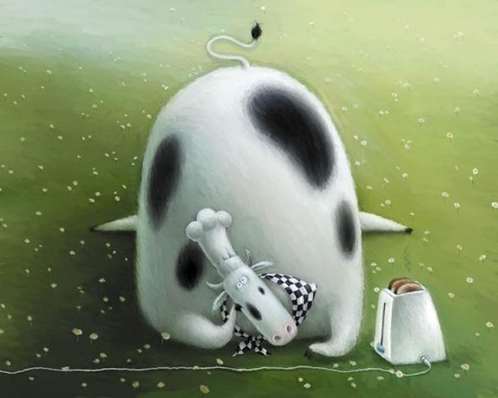Голодная корова. Автор: Rob Scotton.