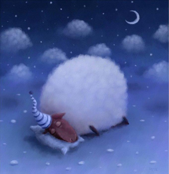 Спящая овечка. Автор: Rob Scotton.