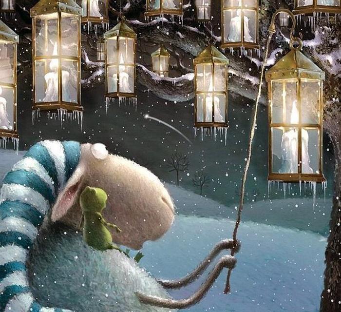 Бессонная ночь барашка Рассела. Автор: Rob Scotton.