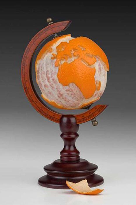 Апельсиновый глобус.