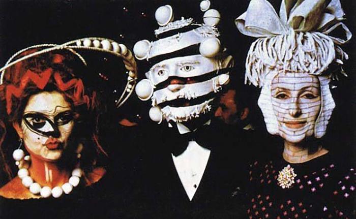 Безумные маски на вечеринке Ротшильдов в 1972 году.