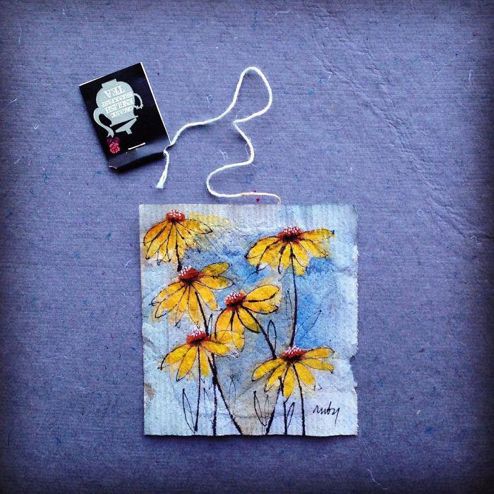 Желтые цветы. Автор: Ruby Silvious.