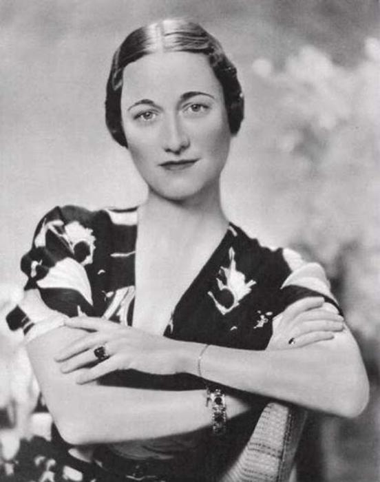 Bessie Wallis Simpson,  супруга герцога Виндзорского.