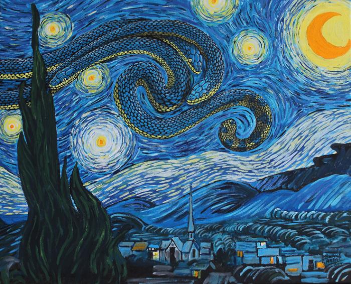 *Змеиная ночь*  по мотивам картины Ван Гога.