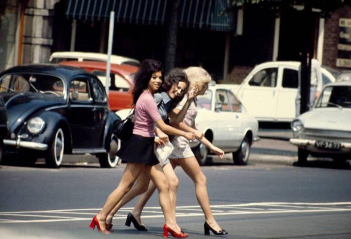 Девушки Амстердама. Beethovenstraat, 1967г.