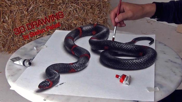 Змея на бумаге.