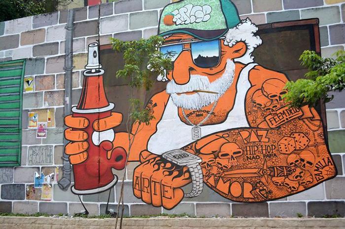 Чудесные граффити в центре Сан-Паулу.