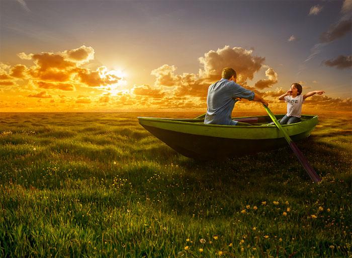 По волнам весенних полей.  Автор: Adrian Sommeling.
