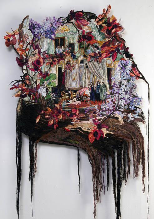 """Картина Софии Нарет """"Серьезная сторона трех снов""""."""