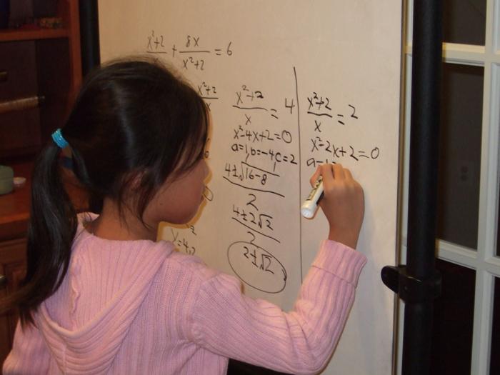Стефани полюбила математику еще  в первом классе.