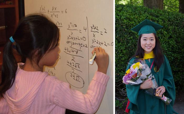Стефани Мои оканчивает одновременно школу и университет.