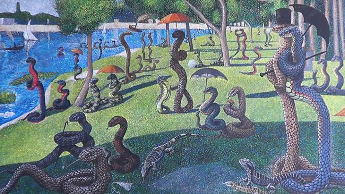 *Воскресный день на острове Змей*  по мотивам картины Жоржа Сёра.