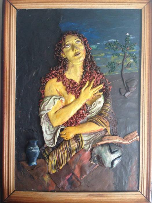 Кающаяся Мария Магдалина: пластилиновая версия картины Тициана.