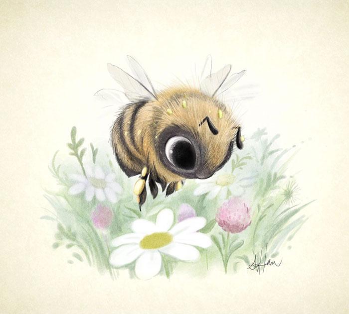Пчела.  Автор: Syndey Hanson.
