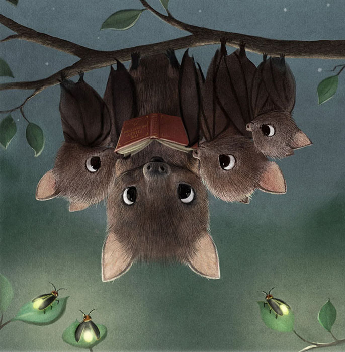 Сказка на ночь для летучих мышек. Автор: Syndey Hanson.