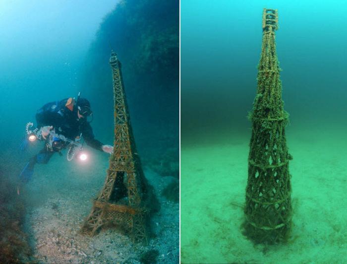 Подводные экспонаты невозможно увидеть без специально снаряжения для погружения под воду.