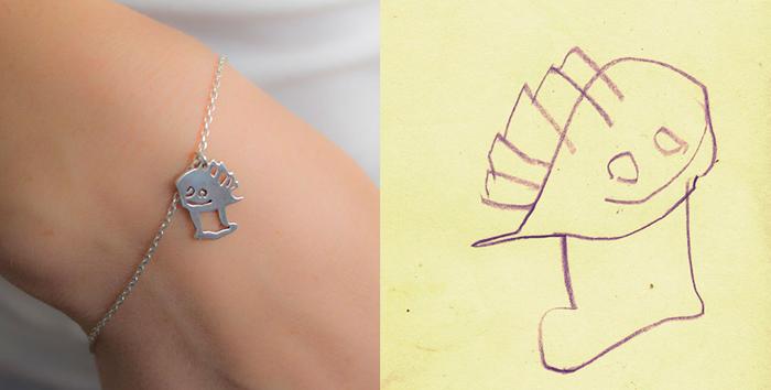 Детский рисунок и украшение на его основе.  Дизайн: Tasarım Takarım.