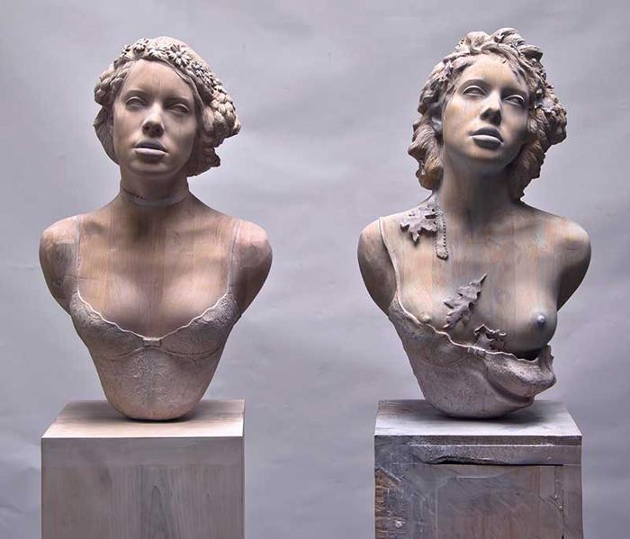 Энтропия (скульптура из клена). Автор: Ted Lawson.