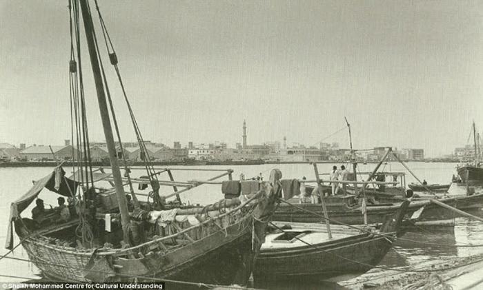Один из заливов в Дубай. 1960-е.