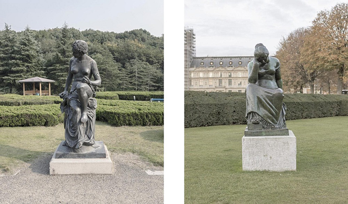 Скопированы даже статуи.  Фото: Francois Prost.