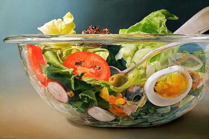 Миска с салатом.  Автор: Чалф Спаарнай (Tjalf Sparnaay).