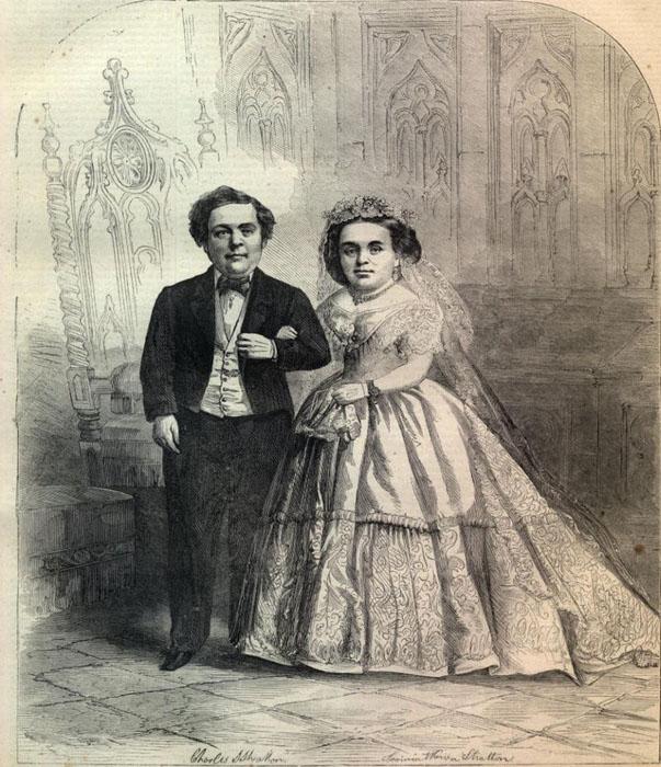 Новобрачные на обложке журнала Харперс Викли 21 февраля 1863г.
