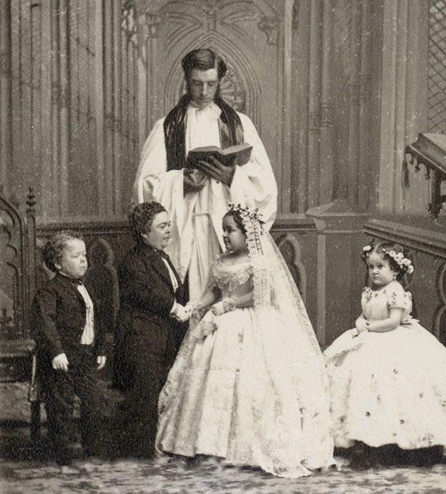 Свадьба Чарльза Шервуда Страттона и Лавинии Варрен.