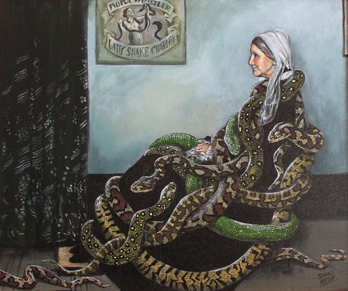 *Комната пожилой леди со змеями* по мотивам картины Джеймса Уистлера.