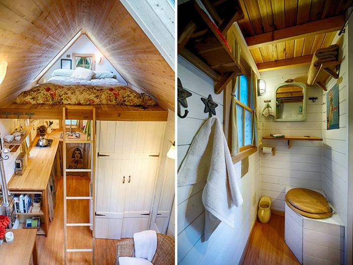 Спальня и ванная комната.